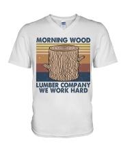 Morning Wood Funny Shirt V-Neck T-Shirt thumbnail