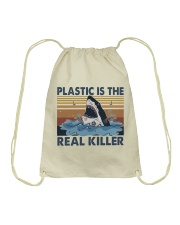 Plastic Is The Real Killer Drawstring Bag thumbnail