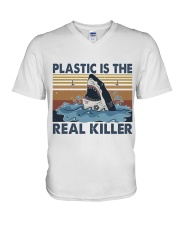 Plastic Is The Real Killer V-Neck T-Shirt thumbnail