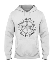 Imagine All The People Hooded Sweatshirt front