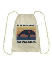 Save The Chubby Mermaids Drawstring Bag thumbnail