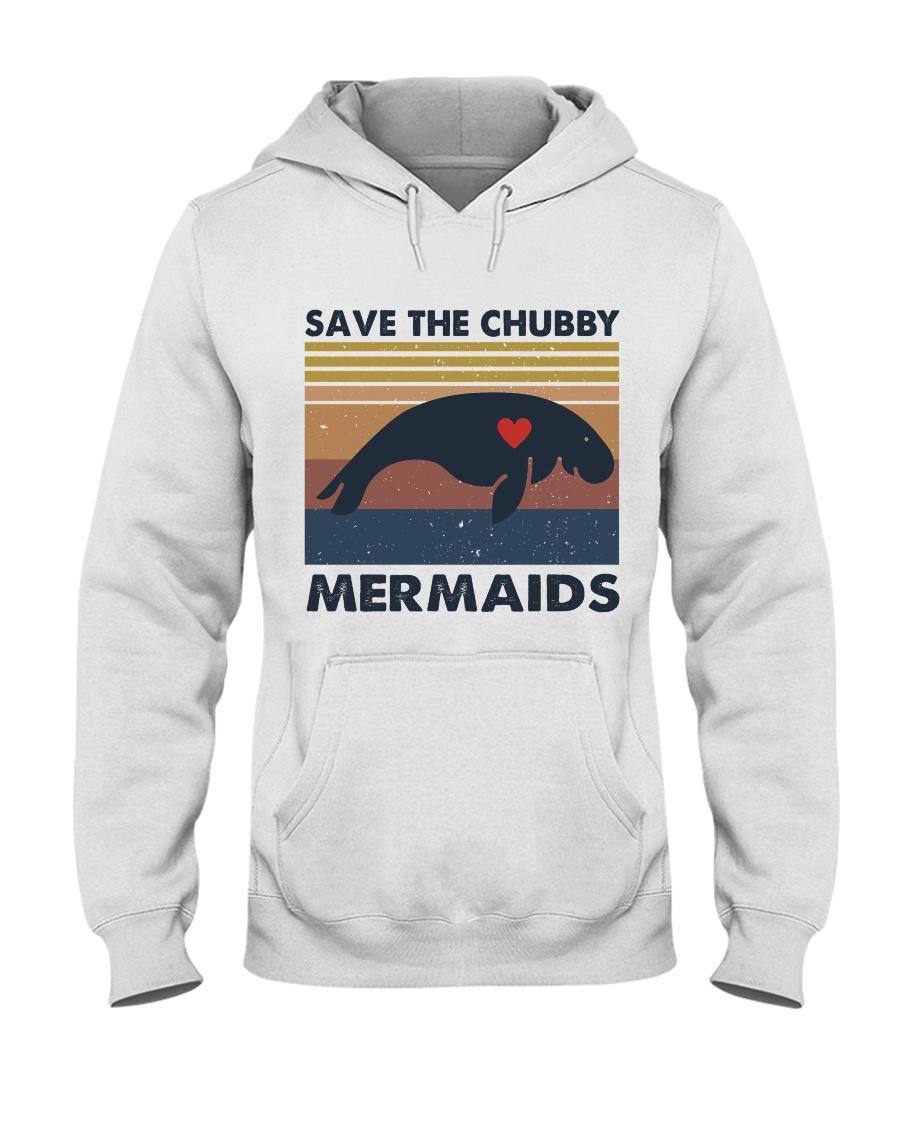 Save The Chubby Mermaids Hooded Sweatshirt