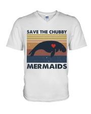 Save The Chubby Mermaids V-Neck T-Shirt thumbnail