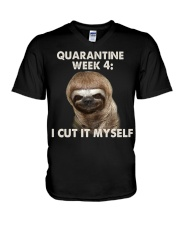 Quarantine Week 4 V-Neck T-Shirt thumbnail