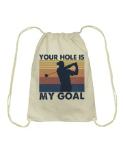 Your Hole Is My Goal Funny Drawstring Bag thumbnail