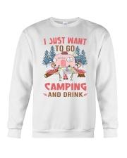 I Just Want To Go Camping Crewneck Sweatshirt thumbnail