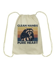 Clean Hands Pure Heart Drawstring Bag tile