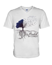 Rooted In Christ V-Neck T-Shirt thumbnail