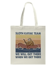 Sloth Kayak Team Tote Bag thumbnail