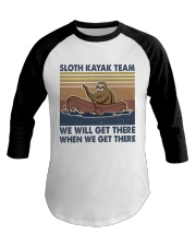 Sloth Kayak Team Baseball Tee thumbnail
