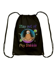 Stay Out Of My Bubble Drawstring Bag thumbnail