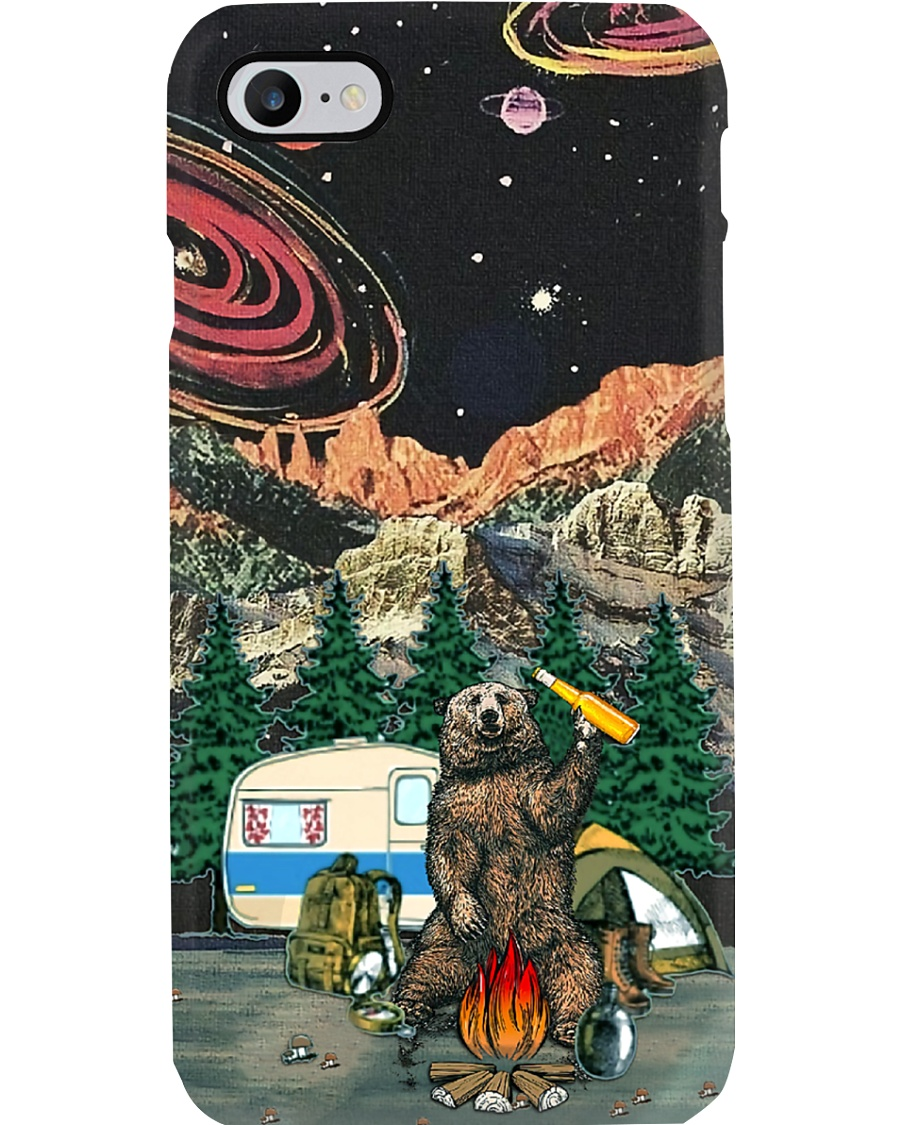 Bear With Beer Camping Phone Case