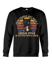 Some People Need A High Five Crewneck Sweatshirt thumbnail