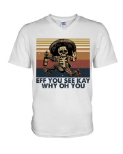 Eff You See Key V-Neck T-Shirt thumbnail