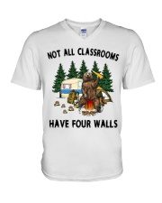 Not All Classrooms Have Four Walls V-Neck T-Shirt thumbnail