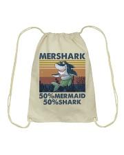 Mershark Funny Shirt Drawstring Bag thumbnail