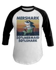 Mershark Funny Shirt Baseball Tee thumbnail