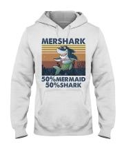 Mershark Funny Shirt Hooded Sweatshirt front