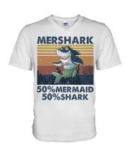 Mershark Funny Shirt V-Neck T-Shirt thumbnail