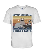 Support Your Local V-Neck T-Shirt thumbnail