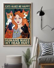 Cats Make Me Happy 11x17 Poster lifestyle-poster-1