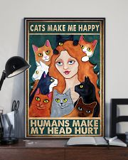 Cats Make Me Happy 11x17 Poster lifestyle-poster-2