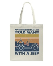 Never Underestimate A Old Man Tote Bag thumbnail