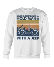 Never Underestimate A Old Man Crewneck Sweatshirt thumbnail