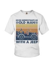 Never Underestimate A Old Man Youth T-Shirt thumbnail
