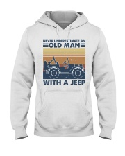 Never Underestimate A Old Man Hooded Sweatshirt front