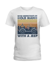 Never Underestimate A Old Man Ladies T-Shirt thumbnail