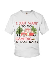 I Just Want To Go Camping Youth T-Shirt thumbnail