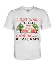 I Just Want To Go Camping V-Neck T-Shirt thumbnail