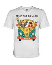 Jesus Take The Wheel V-Neck T-Shirt thumbnail