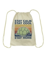 Stay Calm Stay Cool Drawstring Bag tile