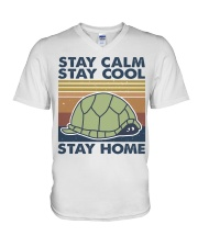 Stay Calm Stay Cool V-Neck T-Shirt tile
