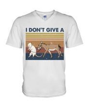 I Dont Give A Funny Shirt V-Neck T-Shirt thumbnail