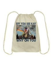 Eff You See Kay Drawstring Bag thumbnail