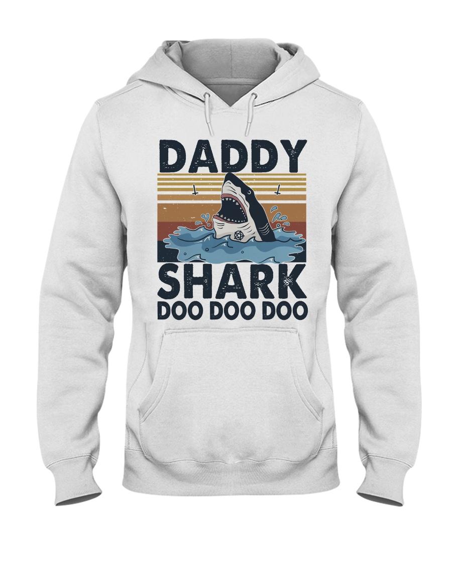 Daddy Shark Hooded Sweatshirt