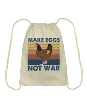 Make Eggs Not War Drawstring Bag thumbnail