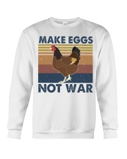Make Eggs Not War Crewneck Sweatshirt thumbnail