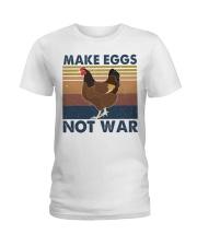 Make Eggs Not War Ladies T-Shirt thumbnail