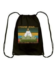 I Found Jesus Drawstring Bag thumbnail