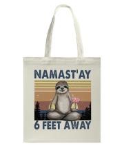 Namastay 6 Feet Away Tote Bag thumbnail
