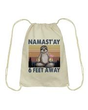 Namastay 6 Feet Away Drawstring Bag thumbnail