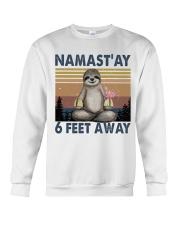 Namastay 6 Feet Away Crewneck Sweatshirt thumbnail