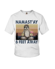 Namastay 6 Feet Away Youth T-Shirt thumbnail