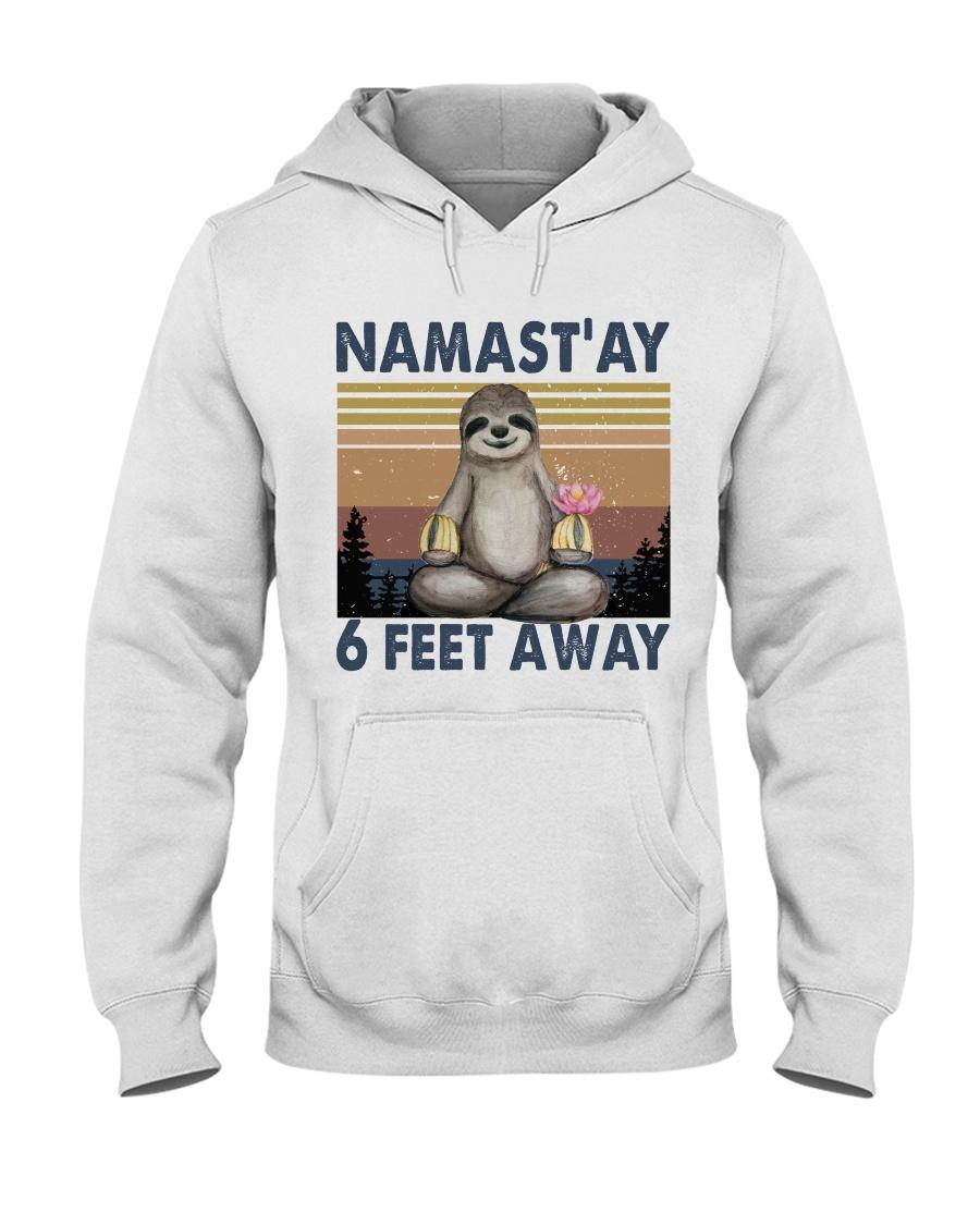 Namastay 6 Feet Away Hooded Sweatshirt