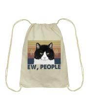 Ew People Funny Cat Drawstring Bag thumbnail