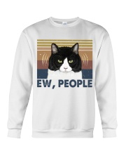 Ew People Funny Cat Crewneck Sweatshirt thumbnail